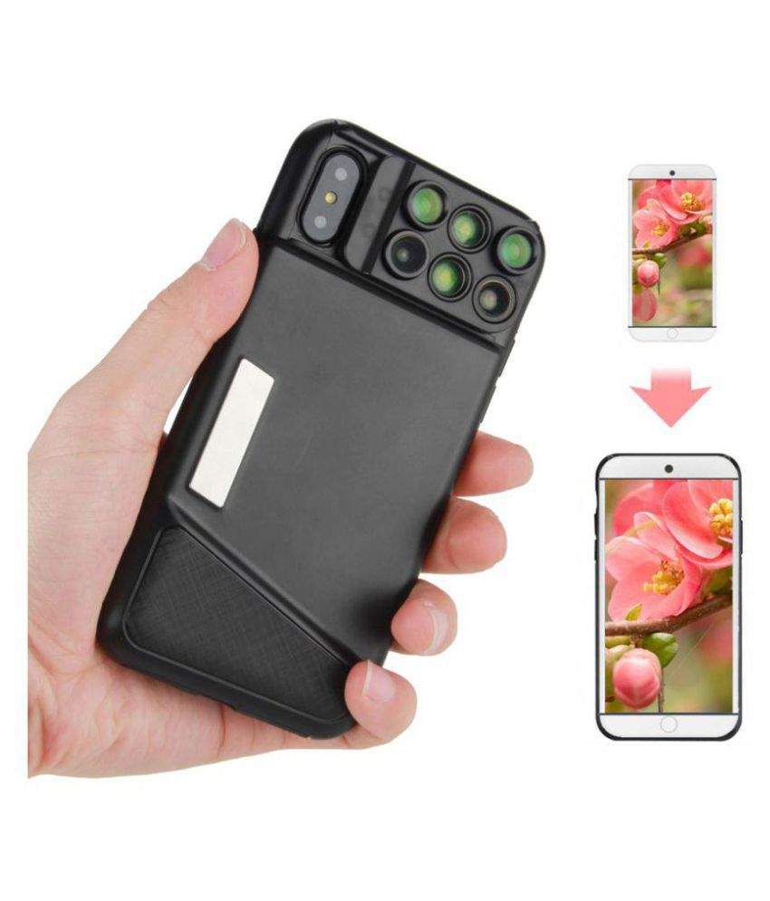 WowObjects Dual Camera Phone Lens With Fisheye With Cover - Mobile