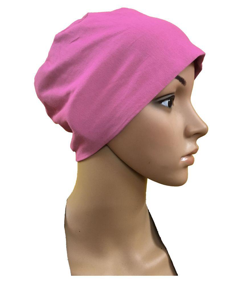 5c51cadd331b2 PINK CHEMO BEANIES CANCER CAPS WOMEN SUMMER CHEMO CAPS SLEEP TURBAN FOR WOMEN  UNDERSCARF CAPS UNDER ...