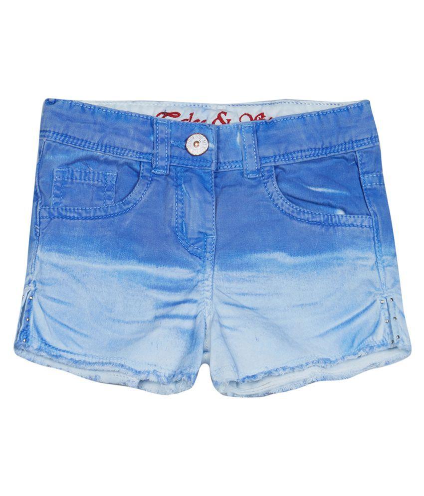 Tales & Stories Girls Blue Denim Shorts