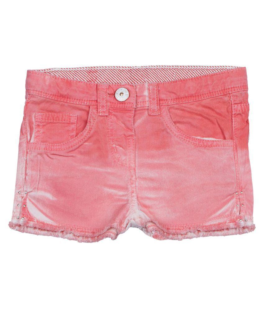 Tales & Stories Girls Pink Denim Shorts