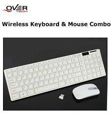 OverTech K688 Wireless Keyboard Mouse Combo (White)