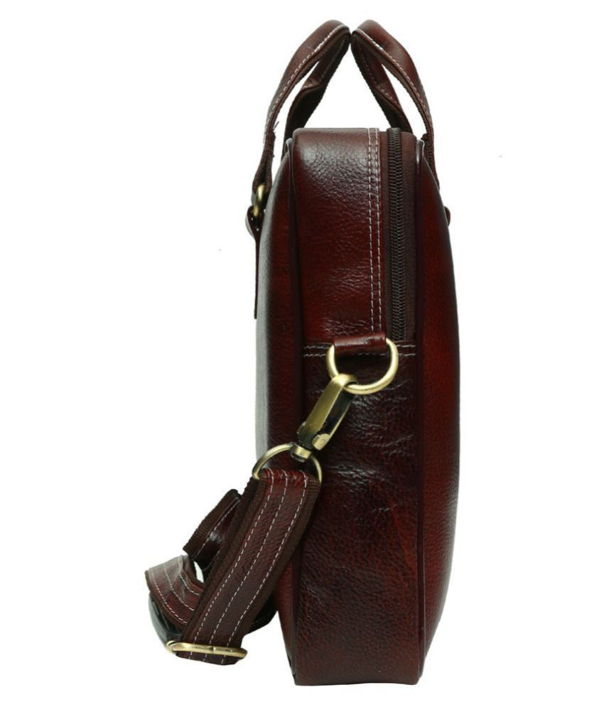 HAMMONDS FLYCATCHER NA Brown Leather Office Bag - Buy HAMMONDS ... 2ade7b9e5a267