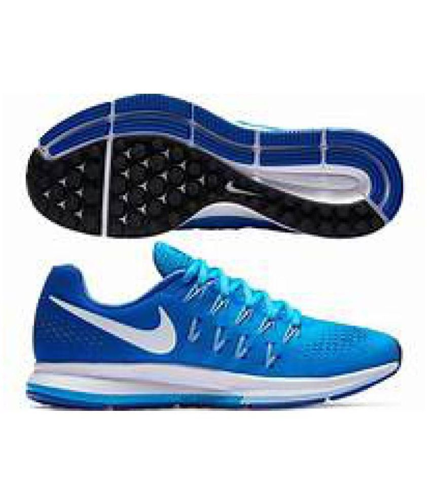 detailed look 019ac 34b47 Nike Air zoom 33 pegasus Blue Running Shoes - Buy Nike Air zoom 33 pegasus  Blue Running Shoes Online at Best Prices in India on Snapdeal