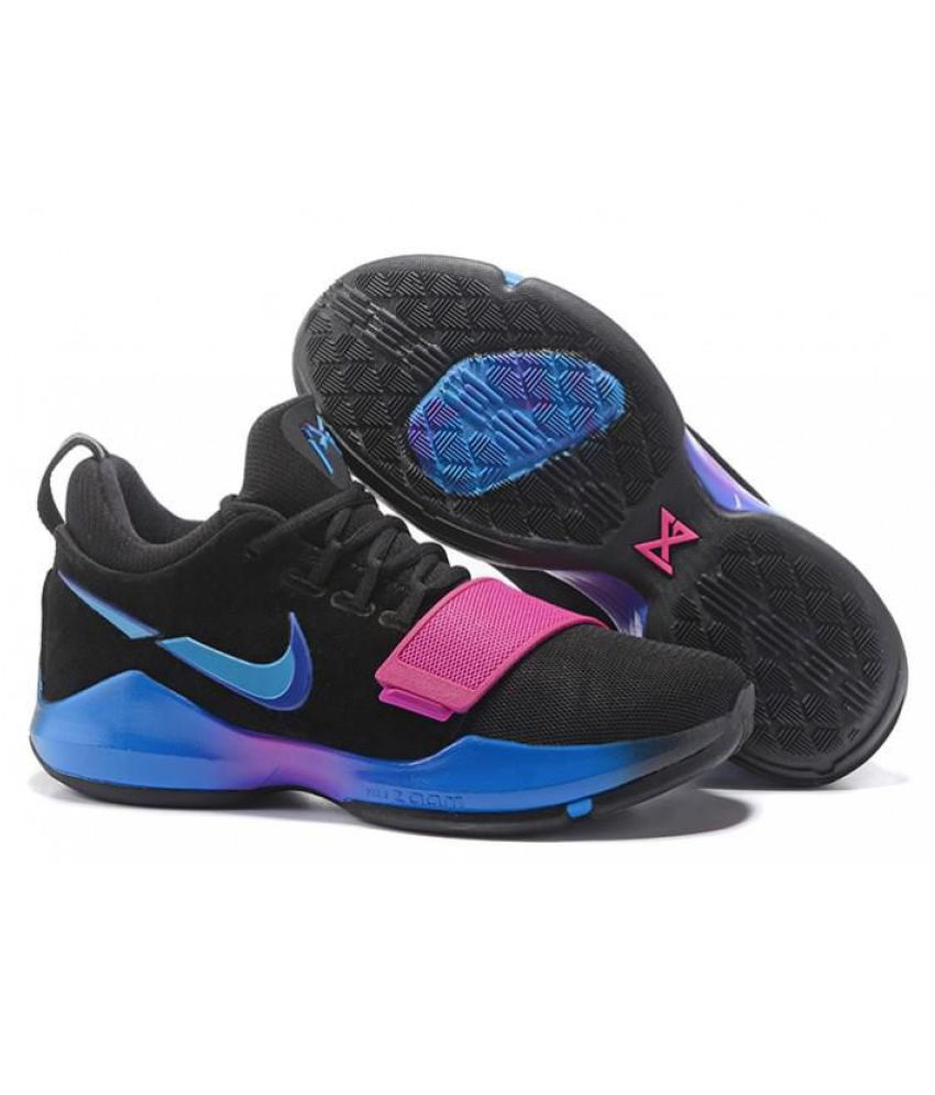 the best attitude f2917 e942b ... Nike PG 1 PAUL GEORGE Black Basketball Shoes ...