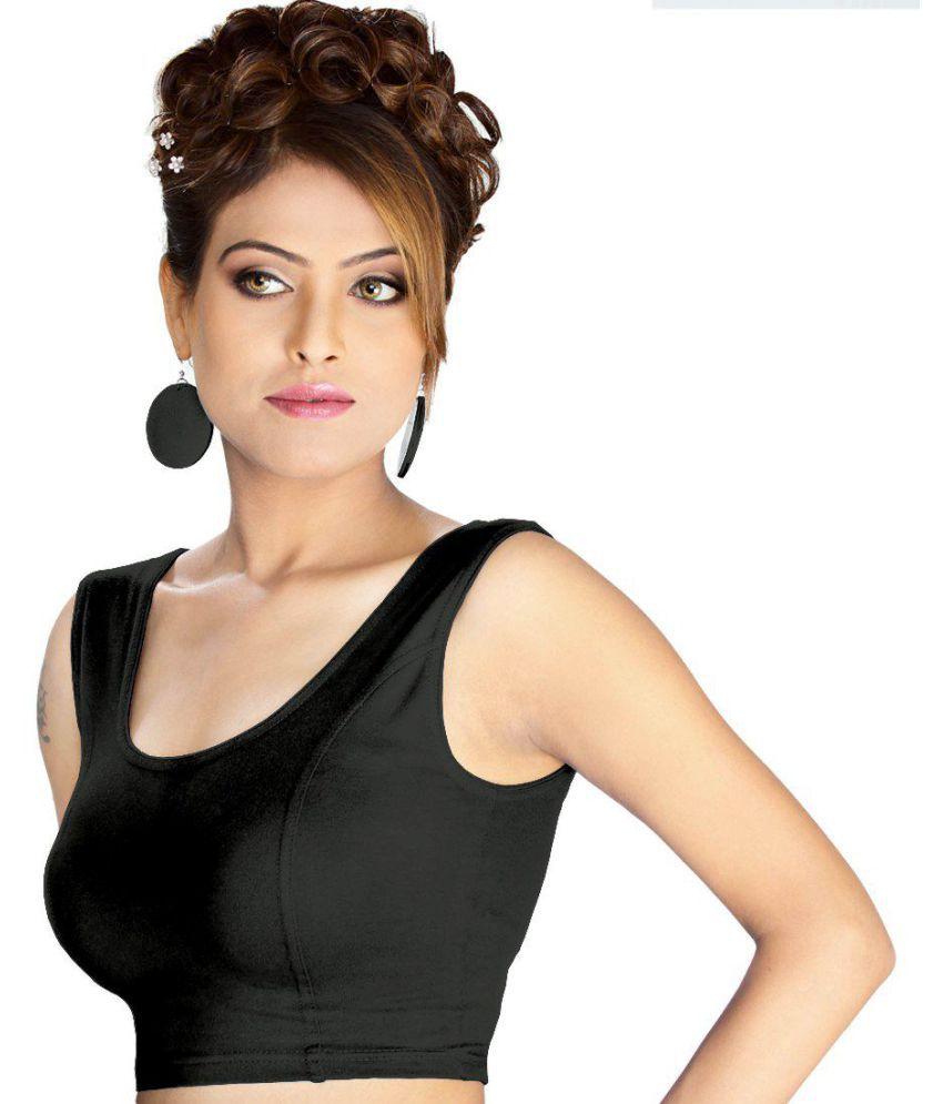 Abhi Black Cotton Readymade without Pad Blouse