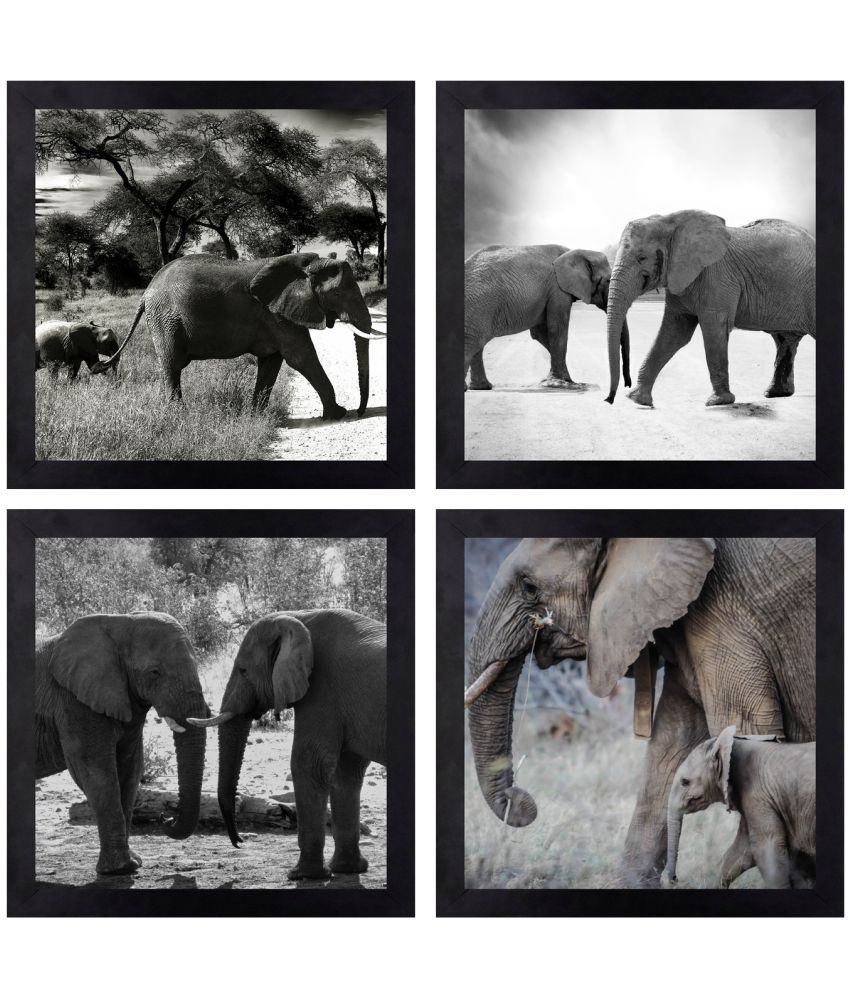 CRAFTSFEST BEAUTIFULL ANIMAL DIGITAL REPRINT CANVAS PAINTING Canvas Painting With Frame
