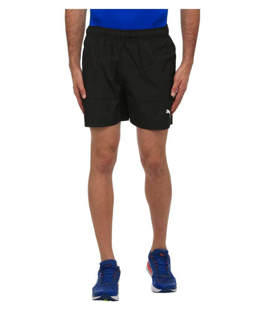 Puma Men's Black Ess Woven Gymwear Shorts