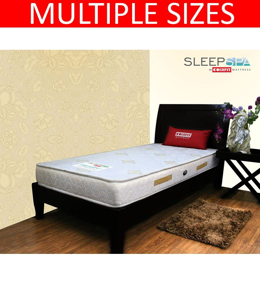 sleep spa pure sleep pocket 6 inches orthopedic spring mattress