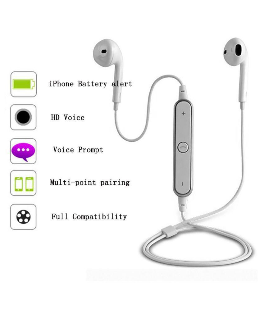 Vivo For Y53 Wireless Bluetooth Headset White Bluetooth Headsets Online At Low Prices Snapdeal India
