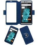 Smartron Tphone T5511 Flip Cover by ACM - Blue