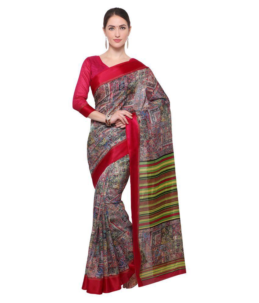 Apple Creation Multicoloured Manipuri Silk Saree