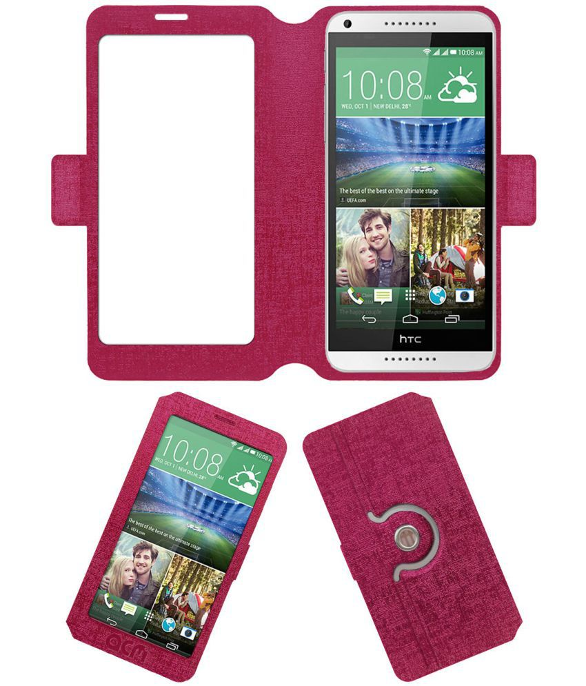 HTC Desire 816 Flip Cover by ACM - Pink