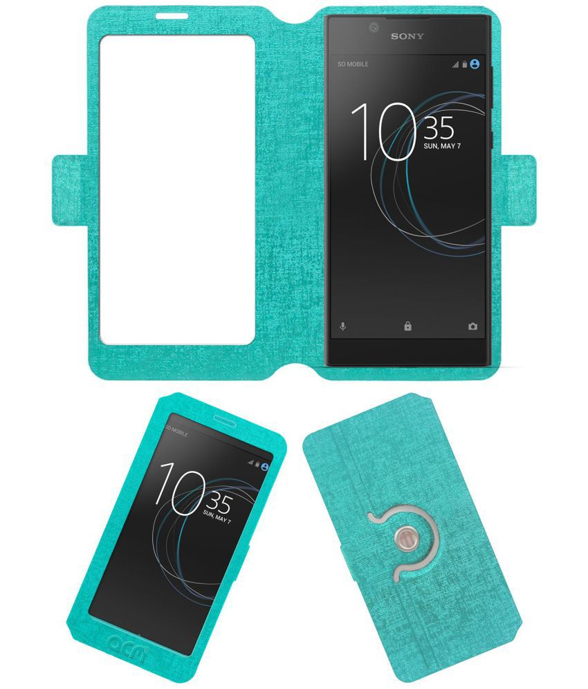 Sony Xperia L1 Flip Cover by ACM - Blue