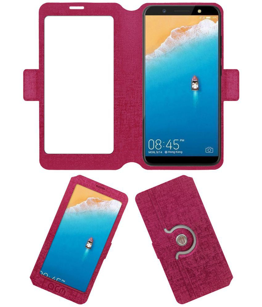 Tecno Camon i Flip Cover by ACM - Pink