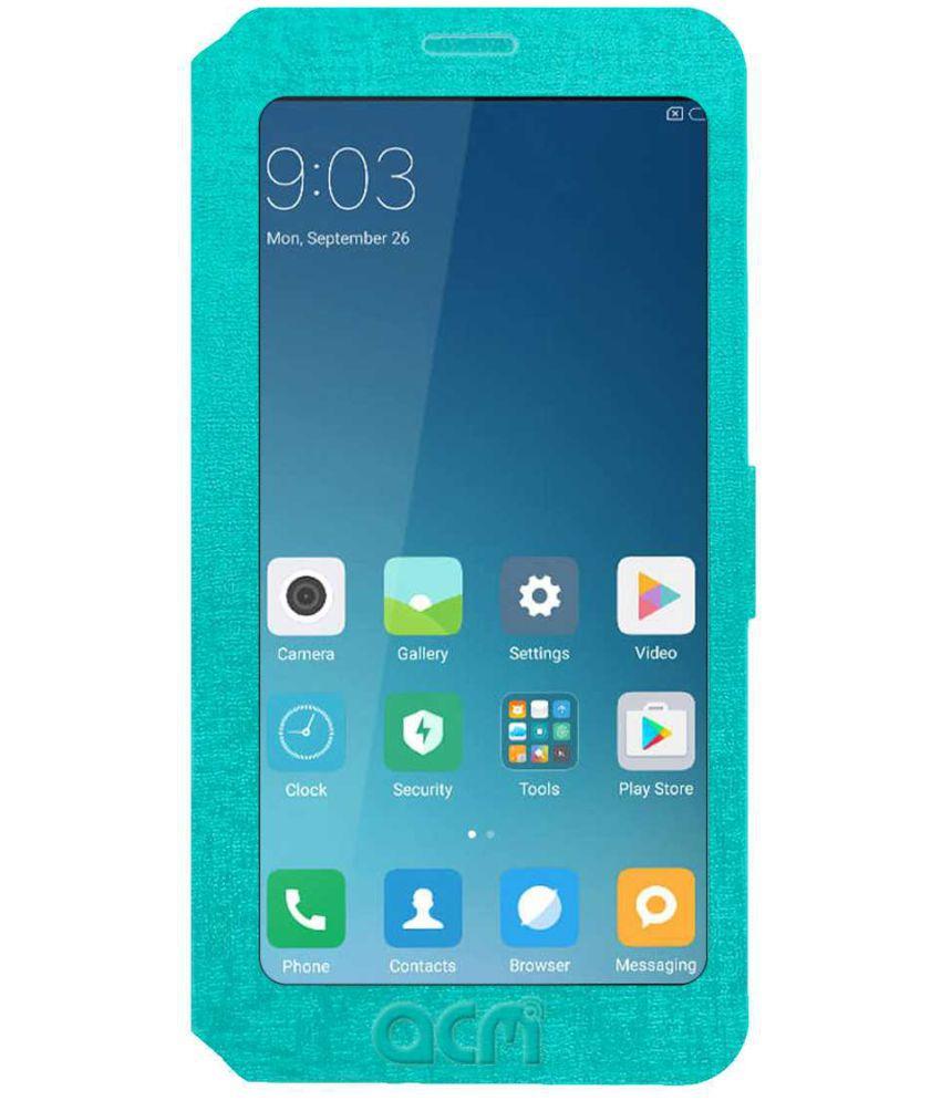 new product a0b7a a53c6 LAVA Z70 4G Flip Cover by ACM - Blue