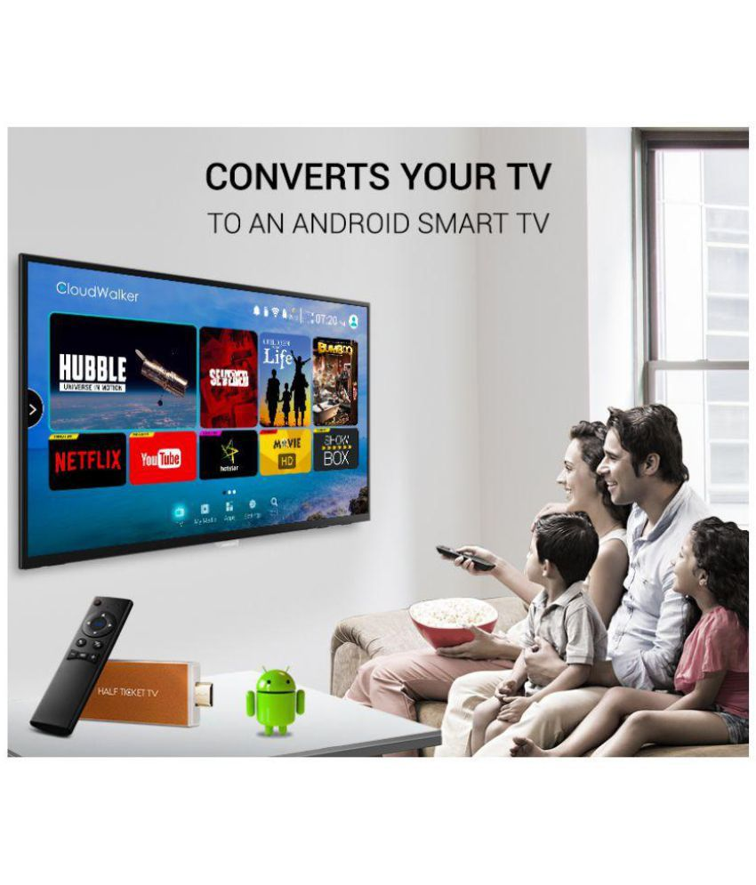 CloudWalker Android Smart TV Stick with Air Mouse Media Streaming Device