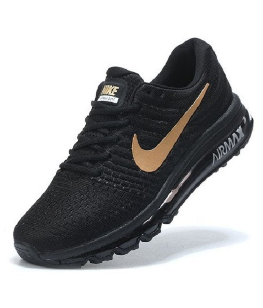 mezcla Para exponer Caballero amable  Nike Airmax 2017 Limited Edition Black Gold Running Shoes - Buy Nike Airmax  2017 Limited Edition Black Gold Running Shoes Online at Best Prices in  India on Snapdeal