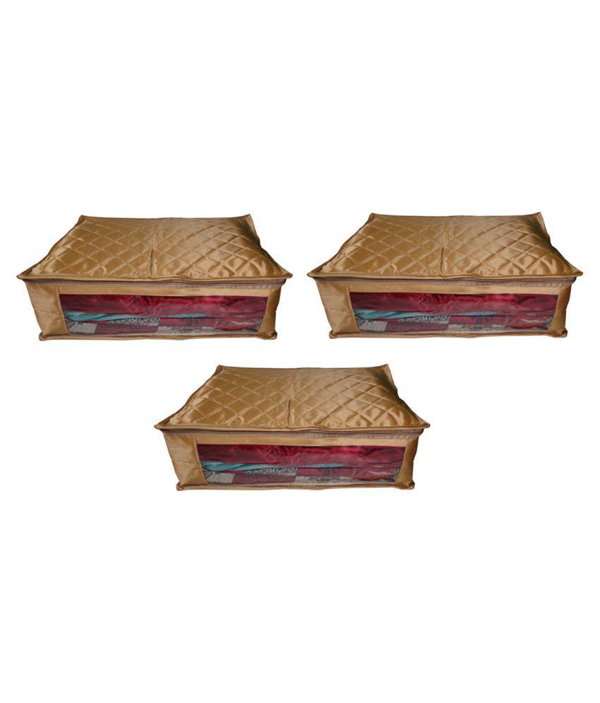 Sarohi Gold Saree Covers - 3 Pcs