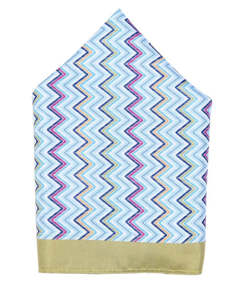 Zido Multicolor Pocket Square for Men PSQ223