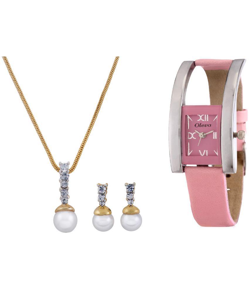 Oleva 22k Silver Necklace Set