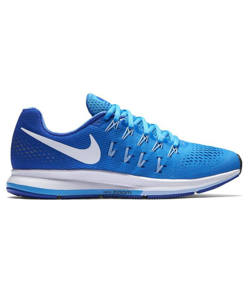 38a40bd42ca6b Nike Air Zoom Pegasus 33 Blue Running Shoes - Buy Nike Air Zoom Pegasus 33  Blue Running Shoes Online at Best Prices in India on Snapdeal