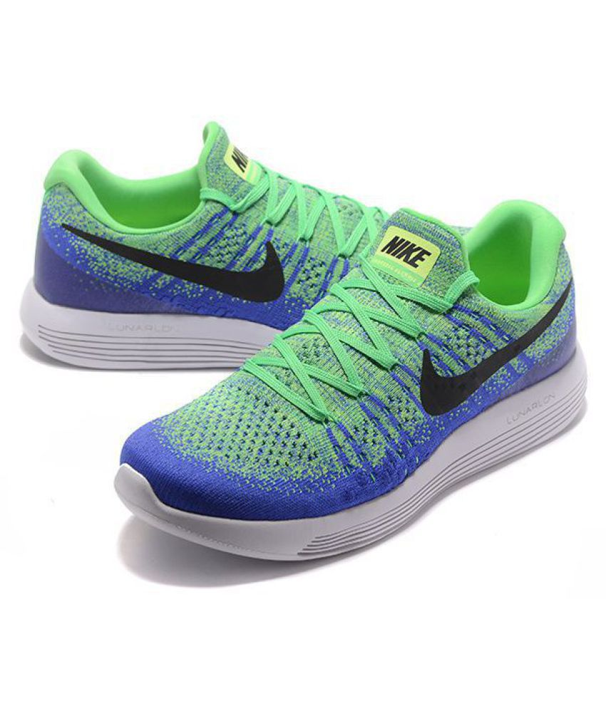 quality design 992b1 598b6 Nike LunarEpic Low Flyknit 2 Green Running Shoes