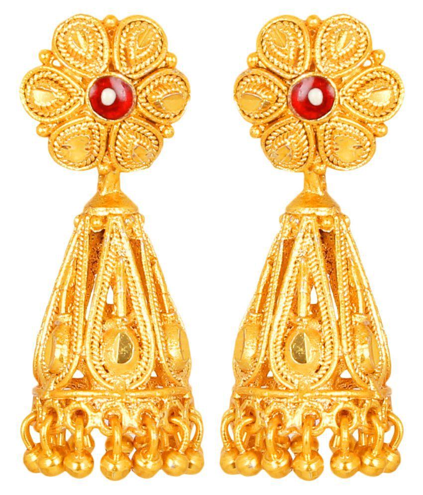 Antique Gold Pretty Jhumki by GoldNera