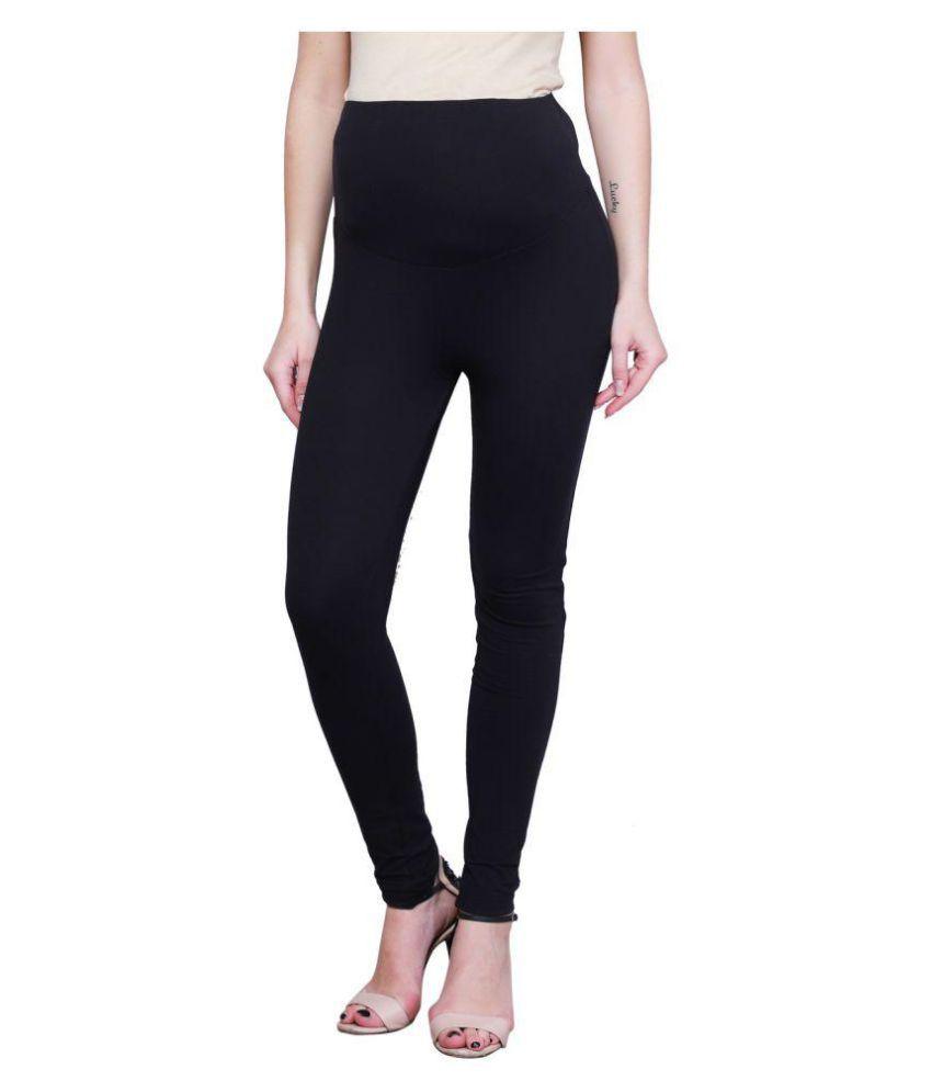 dd98e4ec72083 Finesse Cotton Maternity Wear Black Leggings