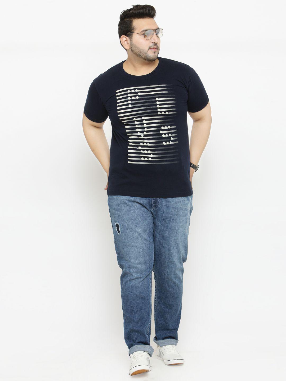 PlusS Navy Round T-Shirt Pack of 1