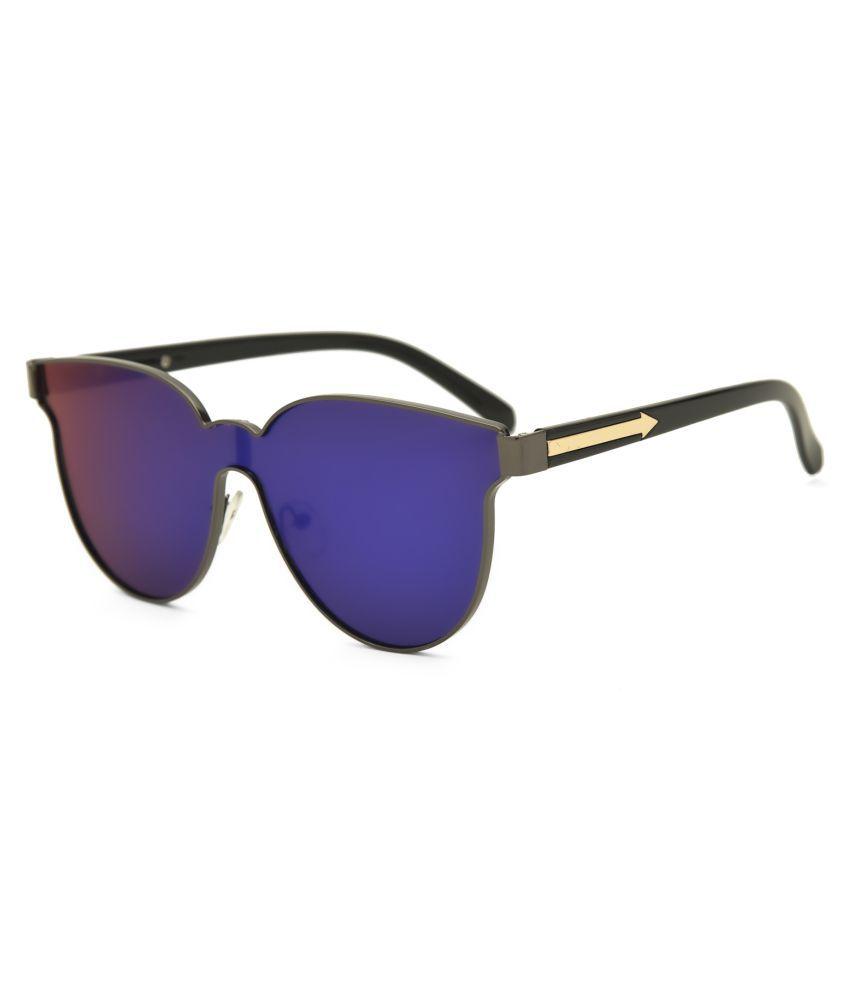 Royal Son Blue Round Sunglasses ( HI0038 )