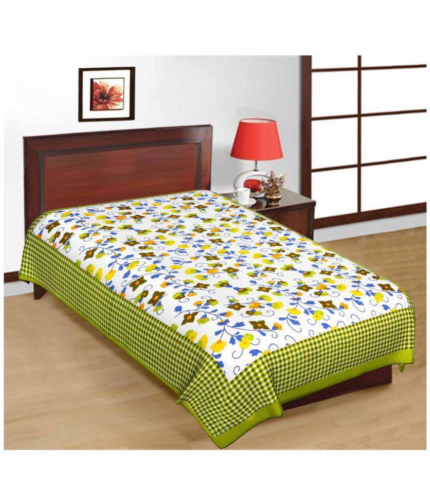 Kismat Collection Cotton Single Bedsheet
