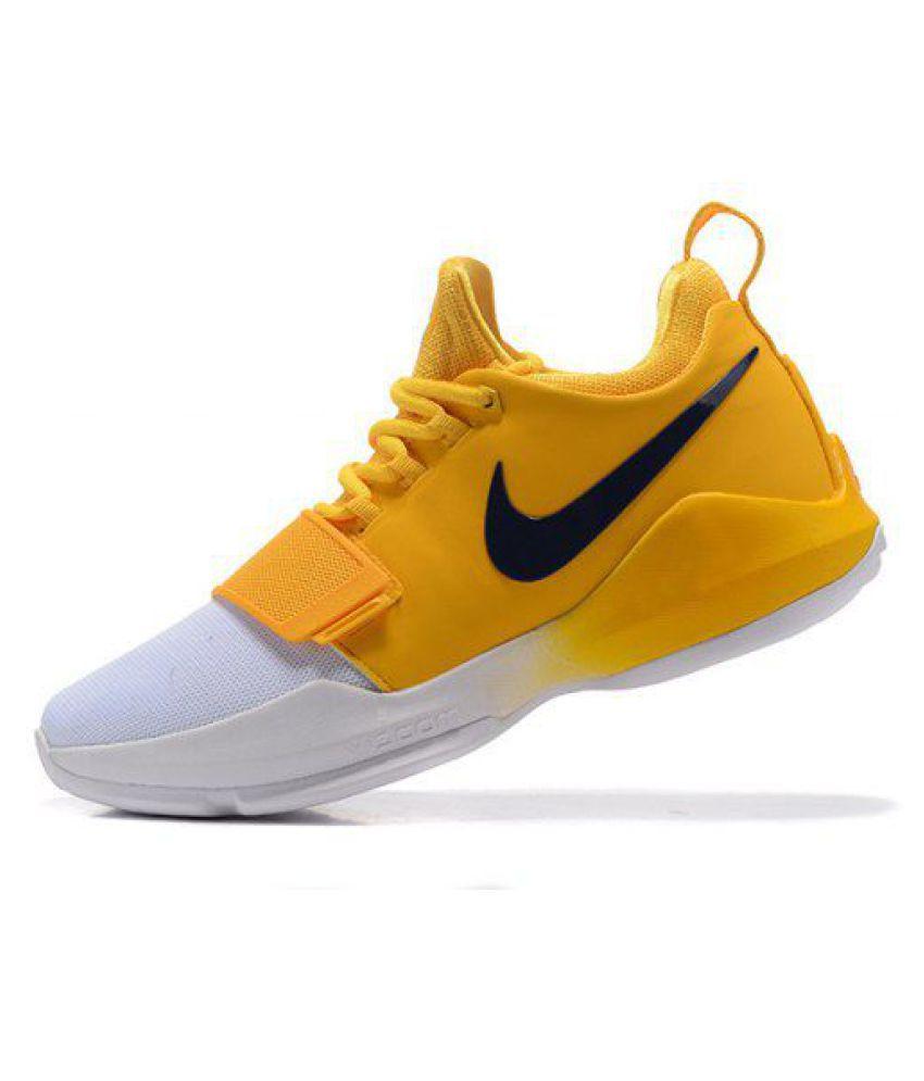 Nike Zoom PG 1 White Yellow Basketball
