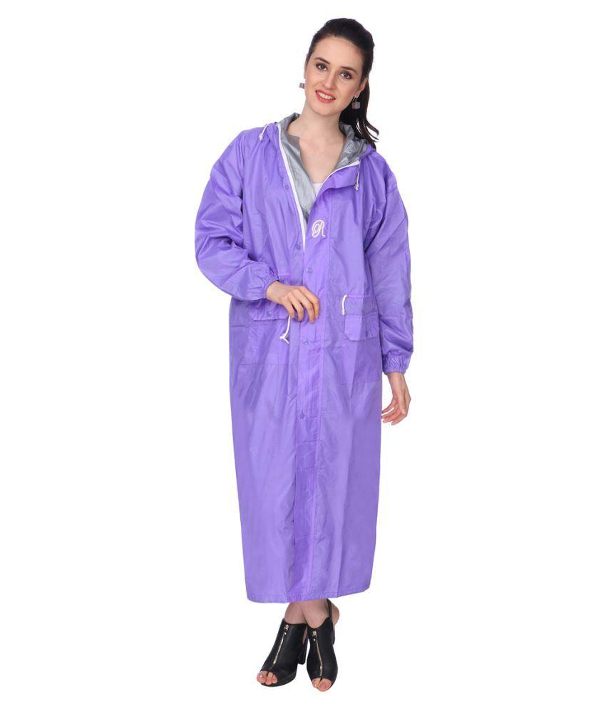 REAL Nylon Long Raincoat - Purple