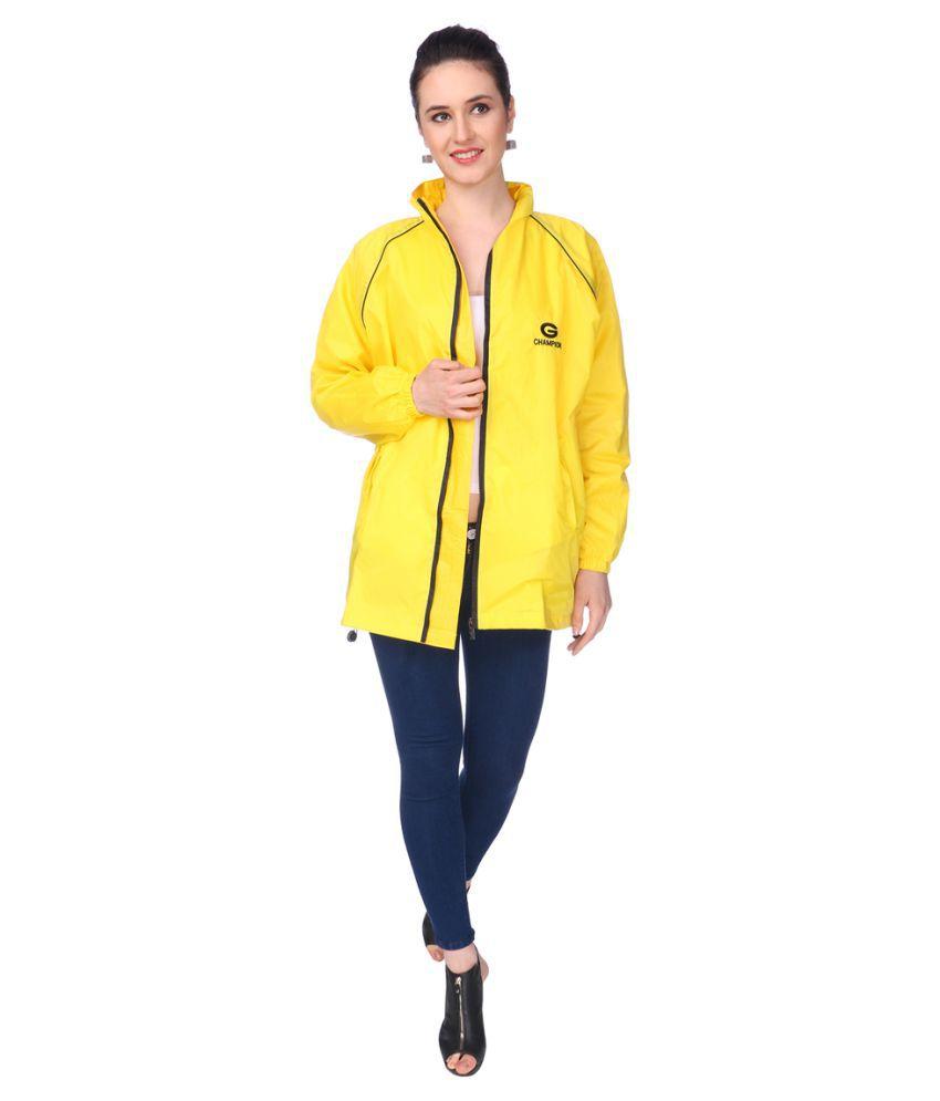 REAL Nylon Short Rainwear - Yellow