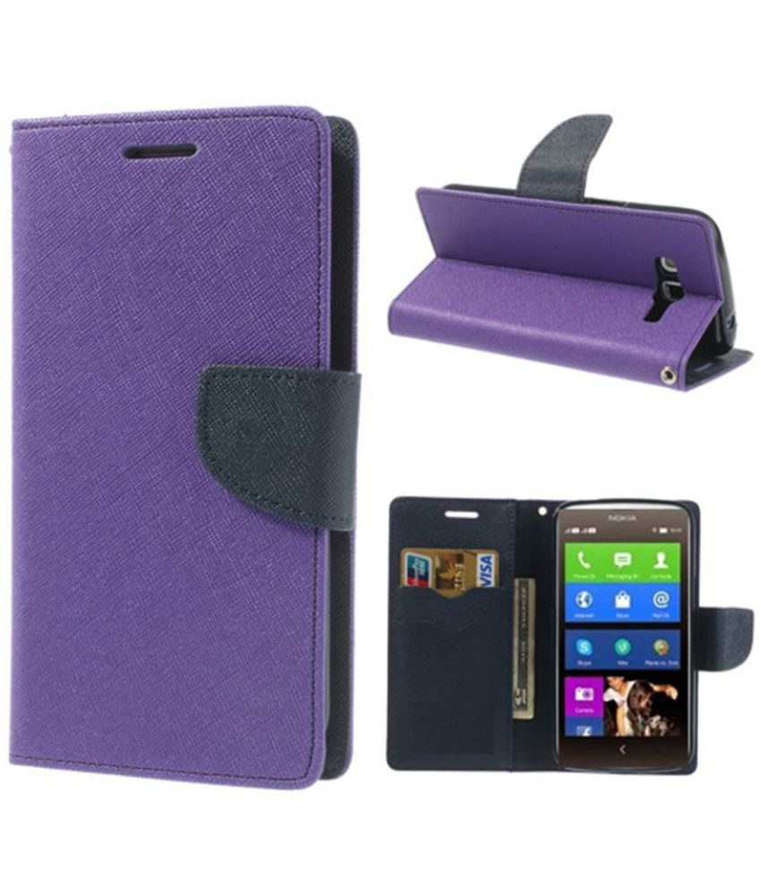 Samsung Galaxy C5 Flip Cover by Kosher Traders - Purple