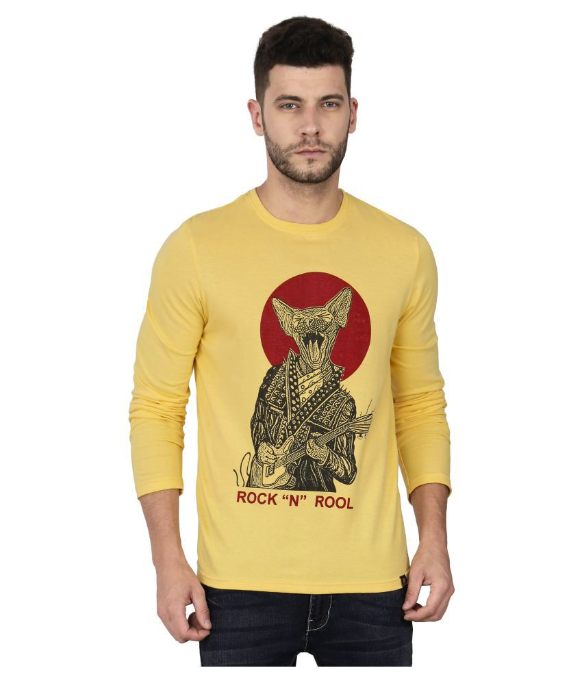 Le Bison Yellow Round T-Shirt Pack of 1