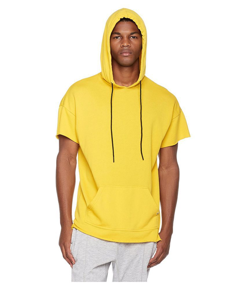 PAUSE Yellow Hooded T-Shirt
