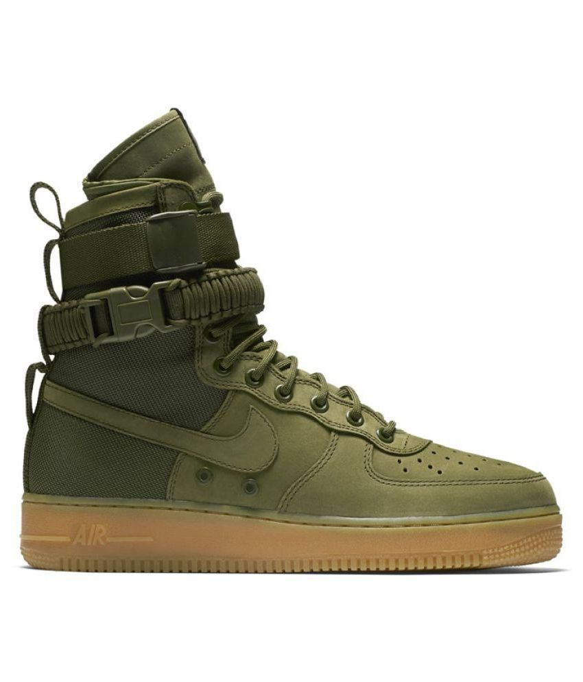 hot sale online b42e9 60be3 ... Nike Air Force SF 1 High Green Training Shoes ...
