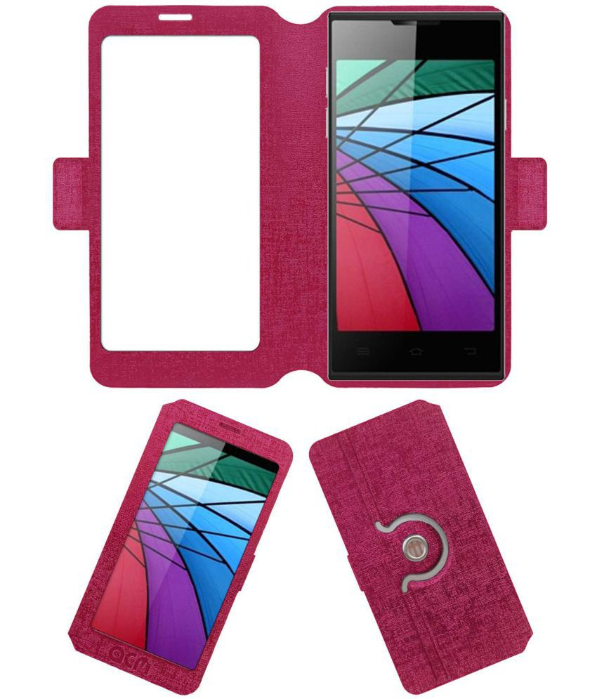 Hsl H1 Smart Flip Cover by ACM - Pink