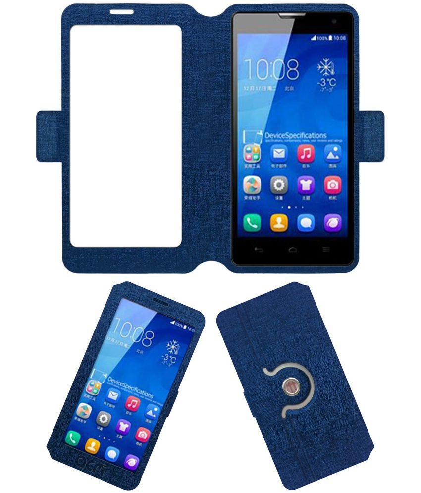 Huawei Honor H30-U10 Flip Cover by ACM - Blue