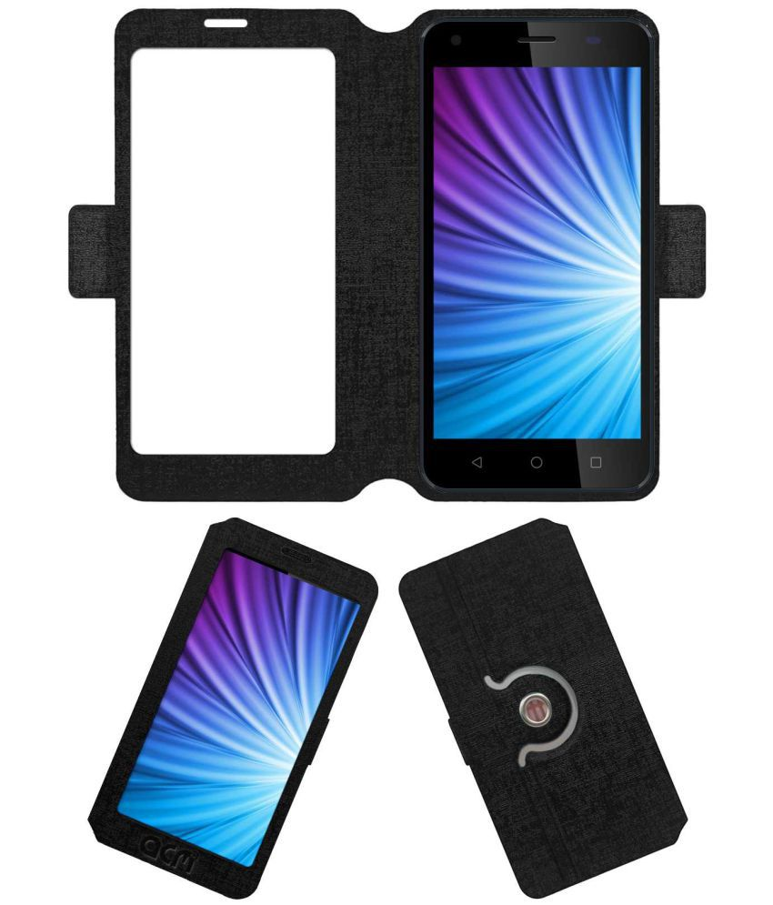 ZIOX QUIQ FLASH 4G Flip Cover by ACM - Black