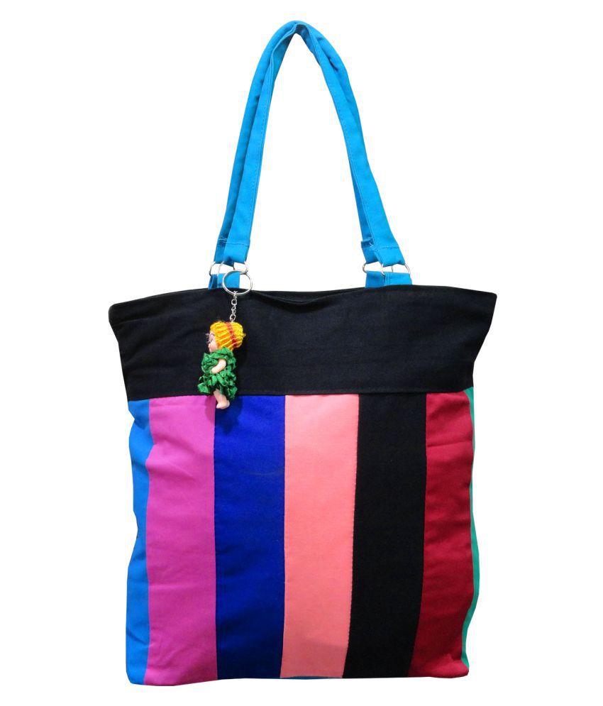 9734efd2ba59 Atorakushon® Multipurpose Carrying Case Women s Elegance Ethnic Cotton with small  Teddy key Ring Style Handbag ...