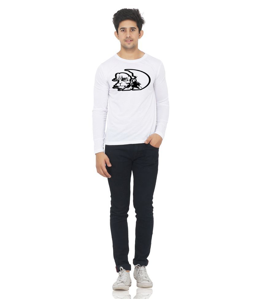 M R MARC ROSE White Round T-Shirt