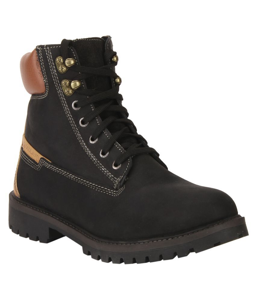 Woodland Black Formal Boot