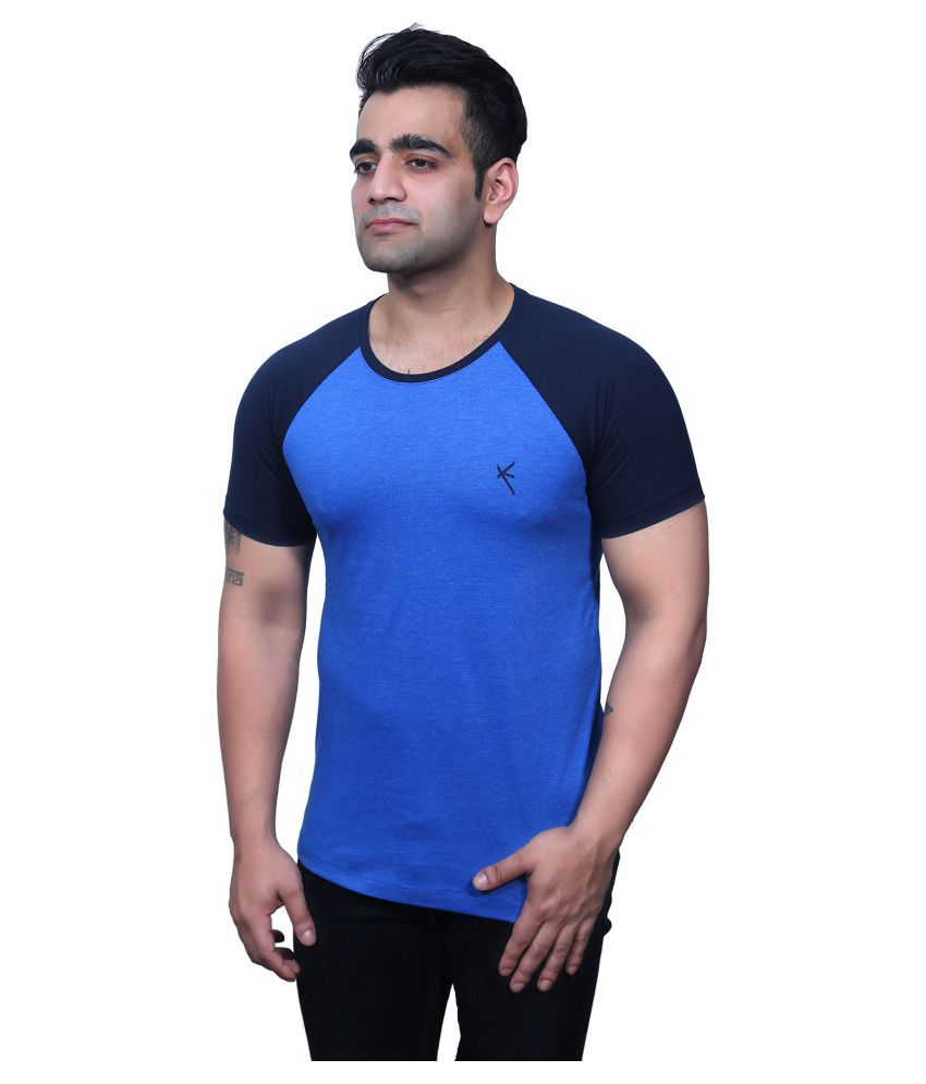 Yross Blue Round T-Shirt Pack of 1