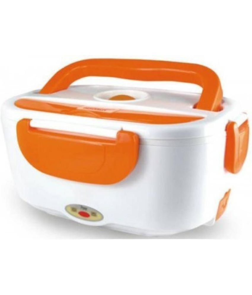 kurtees Orange Virgin Plastic Lunch Box