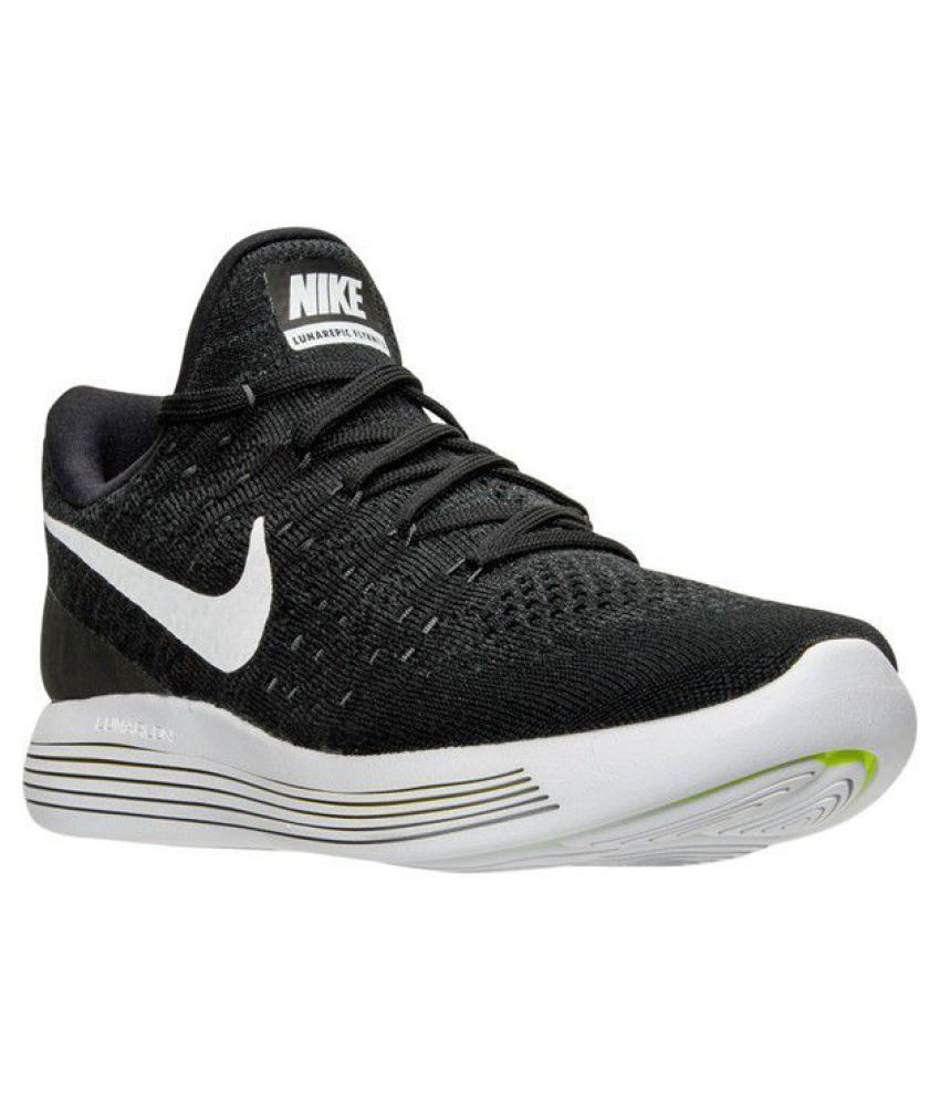 pretty nice 77c09 86de5 ... Nike Lunar Flyknit 3 Black Running Shoes ...