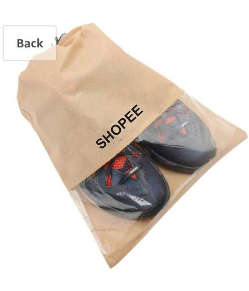 Sho Branded Transpa Shoe Pouches Bags Pack Of 12 Storage