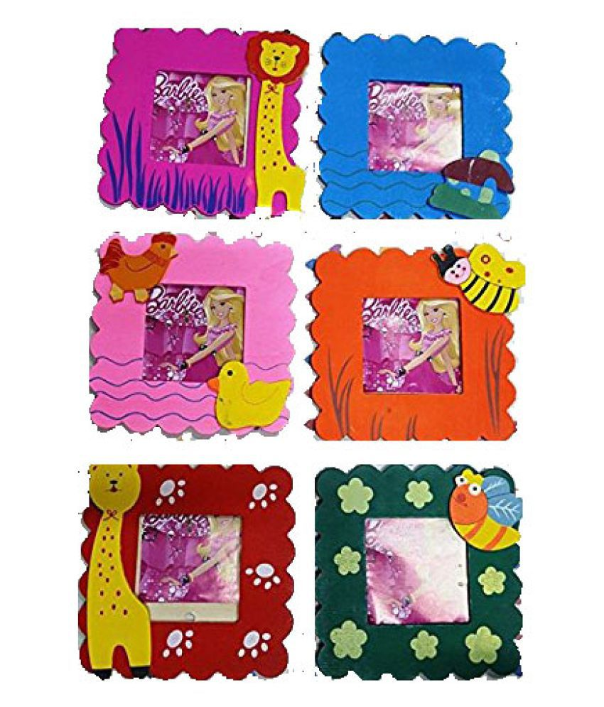Abaj Wooden Cute Animal Design Photo Frame For Birthday Return Gift SET OF 6