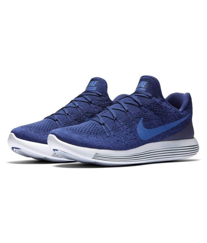 b2e0bc6ef8a9c Nike LunarEpic Low Flyknit 2 Blue Running Shoes - Buy Nike LunarEpic ...